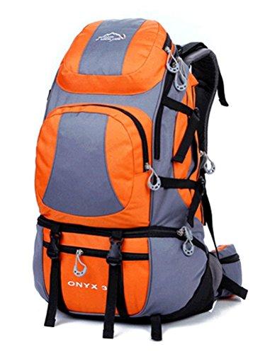 Fortuning's JDS 40L Wasserdicht Rucksack Wandern Camping Klettern Orange