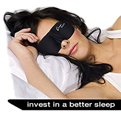 Dream Maker Premium 3D Contoured Moldex Sleep Mask Includes Carry Pouch for Eye Mask Ear Plugs Lightweight & Comfortable for Sleeping Rest Travel Shift Work Meditation Men Women Insomnia