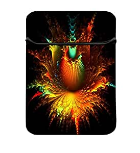 Snoogg Abstract Flowers 10 inch Laptop Case Flip Sleeve Bag Computer Cover