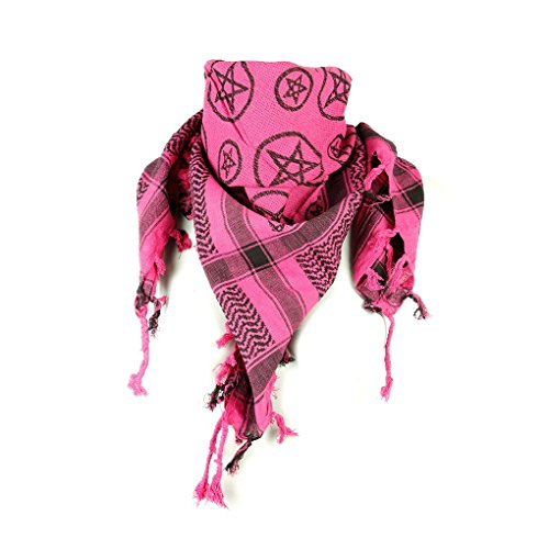 Baumwolltücher Baumwolltuch Kopftuch Nickituch Bandana Langschal Halstuch mit Pentagramm Palituch (20011-021-0000) (20187-218-0000)
