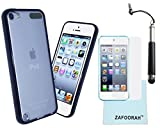 Zafoorah funda con tapa para Apple iPod Touch generación 5 5th (al mercado originalmente septiembre 2012) + y lápiz capacitivo + Protector de pantalla + gamuza de microfibra