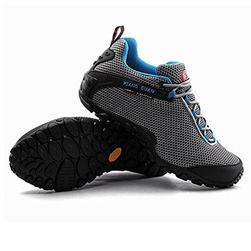 XIANG GUAN Homme Chaussures de Randonnée Basses Respirantes Résistance à l'usure Chaussures de Sports Baskets Outdoor Eté B81286 Gris