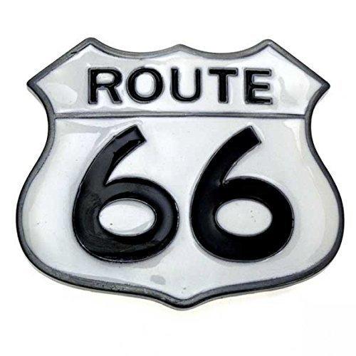 Highway Route 66 Hot Rod (Buckle Route 66, US Highway, Hot Rod, Biker, Gürtelschnalle)
