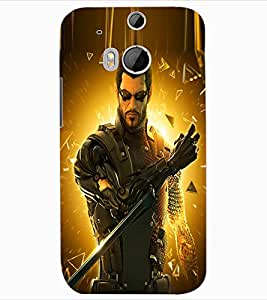 ColourCraft The Warrior Design Back Case Cover for HTC ONE M8