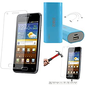 Qualitas Pack of 3 Tempered Glass for Lg G2 + 3600 mAh Power Bank