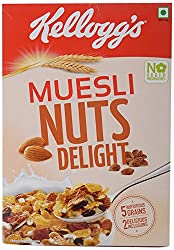Kelloggs Muesli - Nuts Delight, 500g Carton