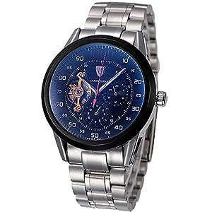 Coffret Cadeau beauté pour homme en acier Style militaire Tevise marque automatique Wind Montre chronographe avec fonction mains libres montre Relogio Masculino heures