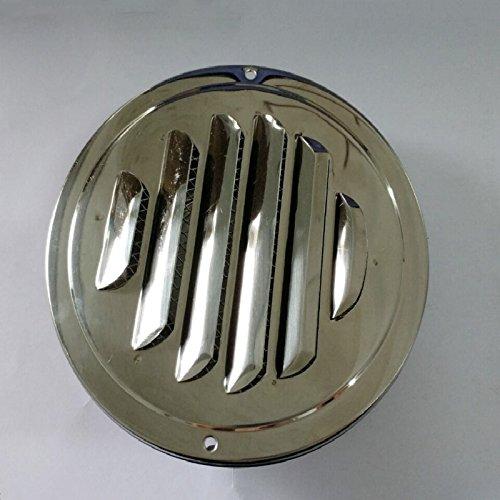 XuBa 80–120mm Rotondo in Acciaio Inox griglia di aerazione Metallo sfiato Ventilazione Copertura, 120mm
