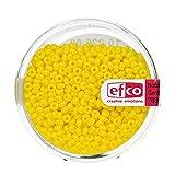efco 1022609 2,6 mm 17 G cuentas indias opaco, amarillo