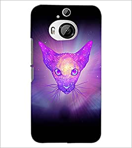 PrintDhaba Cat D-3461 Back Case Cover for HTC ONE M9 PLUS (Multi-Coloured)
