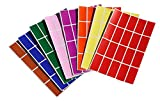 Royal Green Color Coding Labels Rectangle 1.57Inch X 0.75 Inch Rectangular Stickers In Red/Green/Yellow/Pink/Purple/Orange/Brown/Blue ( 40Mm X 19 )
