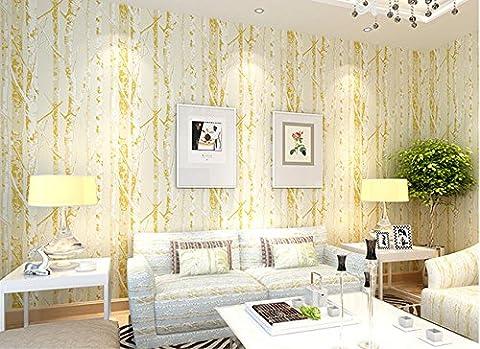Hy-tv murale est simple et élégant Tissu non-tissé papier peint au salon TV murale personnalité d