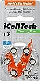 iCellTech Quecksilberfrei Hörgerät-Batterien (Größe...