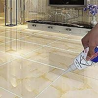 TOMEX Tiles Gap Filler Agent, Waterproof Grout Sealant Agent Tube for Bathroom & Kitchen Tile (White Color - 180ml) Pack…