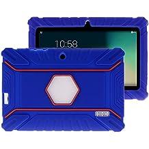 """Fukalu Funda de la Cubierta 7 pulgadas de silicona a prueba de golpes para los niños para Jeja La tableta de 7 """"Dragón táctil de 7 pulgadas, iRULU X1S Tablet de 7 pulgadas, Yuntab Q88 A33 7 pulgadas, iRULU niños de 7 pulgadas, Alldaymall A88X Tablet 7 pulgadas, ibowin P740 7 Pulgadas (Azul marino)"""