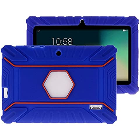 Fukalu Custodia Protettiva Antiurto in Silicone per Alldaymall A88X 7'' Tablet, Dragon Touch Y88X Plus 7 inch Tablet PC, Haehne MiniPad 7 Pollici Tablet PC, iRULU eXpro 1 Tablet (X1) 7