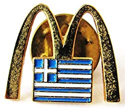 Mc Donalds - Griechenland - Logo & Flagge - Pin 18 x 15 mm