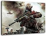 Call of Duty Format 120x80 cm Bild auf Leinwand, XXL riesige Bilder fertig gerahmt mit Keilrahmen, Kunstdruck auf Wandbild mit Rahmen