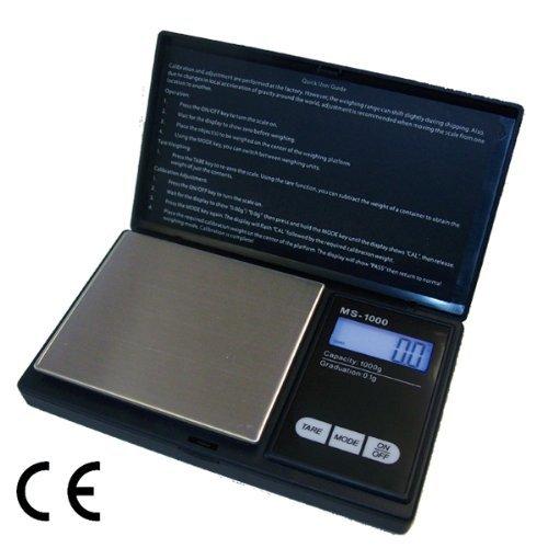 G & G MS-B 1000g/0,1g Taschenwaage Feinwaage Digitalwaage Goldwaage Münzwaage Scale (Pocket Scale)