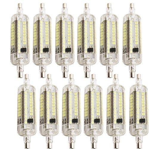 LED R7s -Sockel,R7S Länge 78 mm, 4 w,76 x SMD2835,Kühles Weiß(6500k),Dimmen drei Ebenen, können Sie den Dimmer nicht verwenden, nur den Schalter wechseln; (12 x)