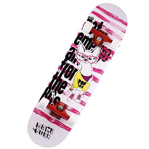 Skateboards Cruiserboosted Board 7-stöckiges Ahorndeck für Erwachsene für Erwachsene, Kinder-Skateboard für Anfänger und Profis,C ()