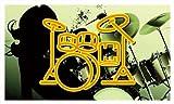 Werbeplane / Gerüstplane - bb230 - Drums Band Room Bar Music - 90x52,5 cm