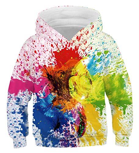 Idgreatim Jungen Mädchen Mit Kapuze Pullover Sweatshirts Pullover 3D Lustige Schule Hoodies Mit Tasche XL