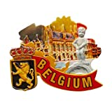 MUYU Magnet Magnete da frigo Belga 3D, Souvenir turistico, Idea Regalo, Decorazione per casa e Cucina