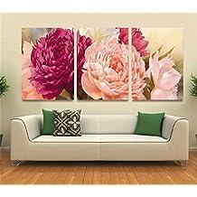 Pintura Pastoral Frameless Decoración De La Sala Pintura Europea Peony Flor Dormitorio Dormitorio Arte Pintura ( Tamaño : 50*70*2.5cm )