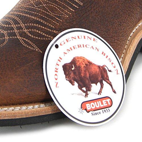 FB Fashion Boots Boulet 6252 Bison Old Town Gold/Damen Westernreitstiefel Braun/Reitstiefel/Westernstiefel/Western Riding Old Town Gold (Weite C)