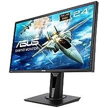 "ASUS VG245H - Monitor Gaming de 24"" Full HD (1920x1080, 1 ms, Free-Sync, 75 Hz, TN, 16:9, Brillo 250 CD/m2, 2 Altavoces estéreo 2 W RMS, con Base ergonómica), Color Negro"