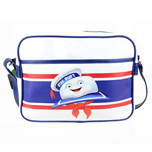 Ghostbusters Unisex Messenger Tasche Marshmallow Man Umhängetasche - Stay Puft Schultertasche Weiß (Cross Body 80er)