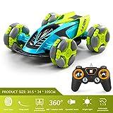 Lukame 2,4G Drahtlose Fernbedienung Auto 360 ° Rotation Drift Auto Programmierung Fernbedienung Fernbedienung Spielzeug(Grün)