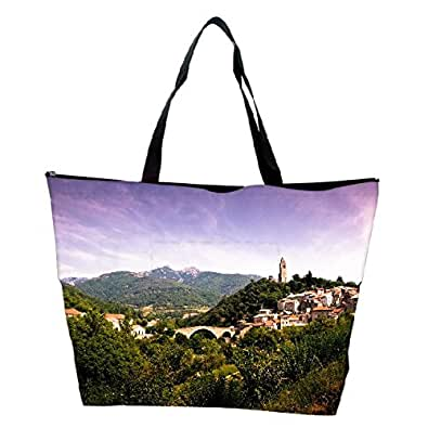 Snoogg Mexican Houses Designer Waterproof Bag Made of High Strength Nylon