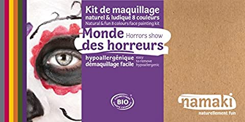 Kit maquillage 8 couleurs Monde des Horreurs BIO Namaki Cosmetics Halloween