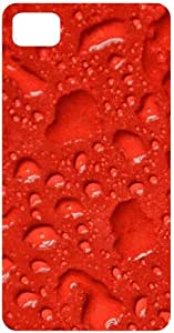 Raindrops In Red Background Back Cover Case for Blackberry Z10