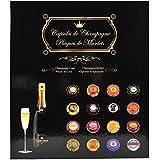 Exacompta - Réf. 96110E - Album de Collection pour 64 Capsules de Champagne - 29 x 32,5 cm - Noir