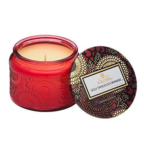 Voluspa Petite Glass jar Candle in Goji & tarocco orange -