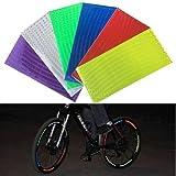 Pegatina reflectante para bicicleta montañera de diferentes colores, para seguridad vial (6...