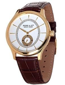 Haas & Cie Herren-Armbanduhr XL Analog Quarz Leder FYH433XWA
