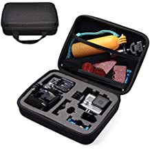 CADeN Camera y estuche de Accesorios EVA a prueba de golpes GoPro Case para GoPro HERO4/3 Session Cameras - Ideal para viajar o almacenar viajes y hogar caso con excelente corte de espuma interior