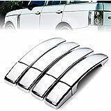 Plat Firm Cubiertas de manija de la puerta de cromo ABS de 8 piezas para Range