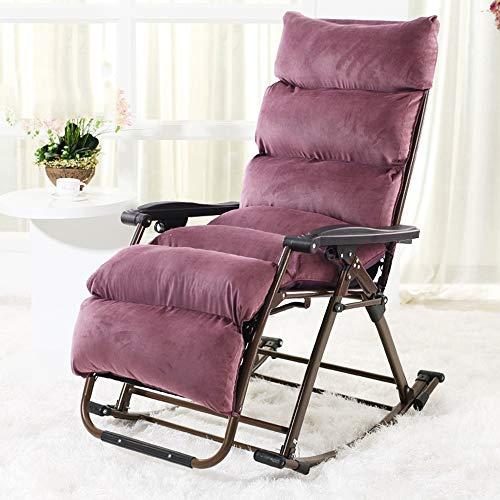 HAIZHEN Chaise longue Chaise de loisirs, chaise longue à bascule, chaise de jardin pliante chaise Textilene tissu chaise à bascule chaise longue pour cour extérieure