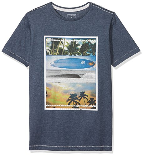Quiksilver PLACETOBEYOUTH B Tees BYJH T Shirt Bambini e Ragazzi Navy Blazer/Heather FR L