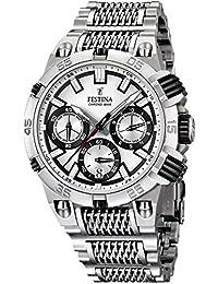 Festina - F16774/1 - Montre Homme - Quartz Analogique - Chronomètre - Bracelet Acier Inoxydable Argent