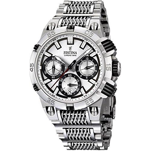 Festina Herren-Armbanduhr XL Chronograph Quarz Edelstahl F16774/1