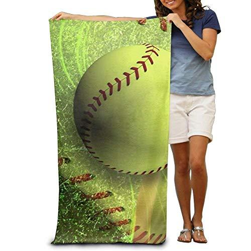 fgjfjhfjtyuj Super Absorbent Badetuch Softball Court Polyester Velvet Badetuchs 31x51 Inch