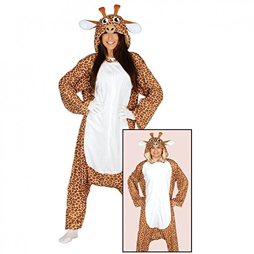 Giraffe Anime Kostüm - Krause & Sohn Pyjama Giraffe Einheitsgröße Tier Kostüm Straßenkarneval Fasching Anime