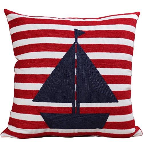 bridgeso Mischgewebe Baumwolle Leinen EMBROIDERIED Überwurf Kissenbezug Kissen für Couch 1er Pack Casual Ship (Teen Schlafzimmer-möbel-sets)