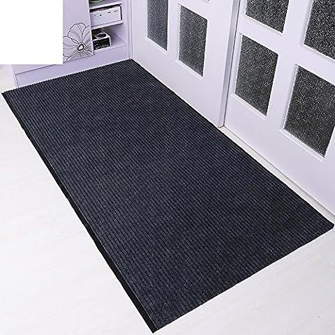 indoor mats/ double-stripe mat/Hallway dedusting car mats/Bathroom door water skid pads-C 60x90cm(24x35inch)